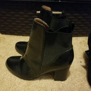 H&M black heeled boots 38